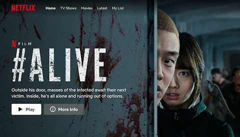 Film #Alive (Gambar via netflix.com)