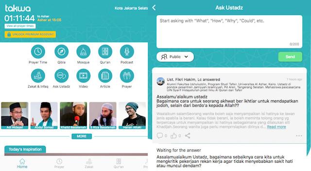 Takwa.id salah satu aplikasi muslim terlengkap di Indonesia (Gambar via Twitter @zakkafm)
