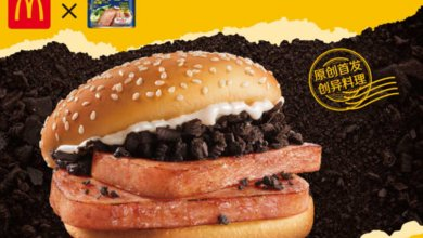Inovasi menu baru McDonalds, burger rasa oreo (Foto via McDonalds China di cnn.com)