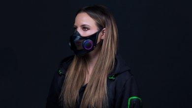 Razer ciptakan masker dengan lampu LED (Foto via www.razer.com)