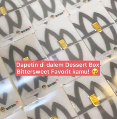 Bittersweet by Najla Bagikan Emas di Dessert Box, Kok Bisa?
